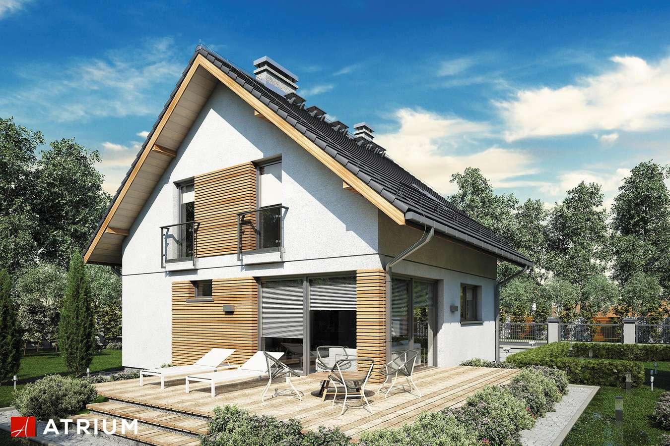 Projekty domów - Projekt domu z poddaszem KONKRET III - wizualizacja 1