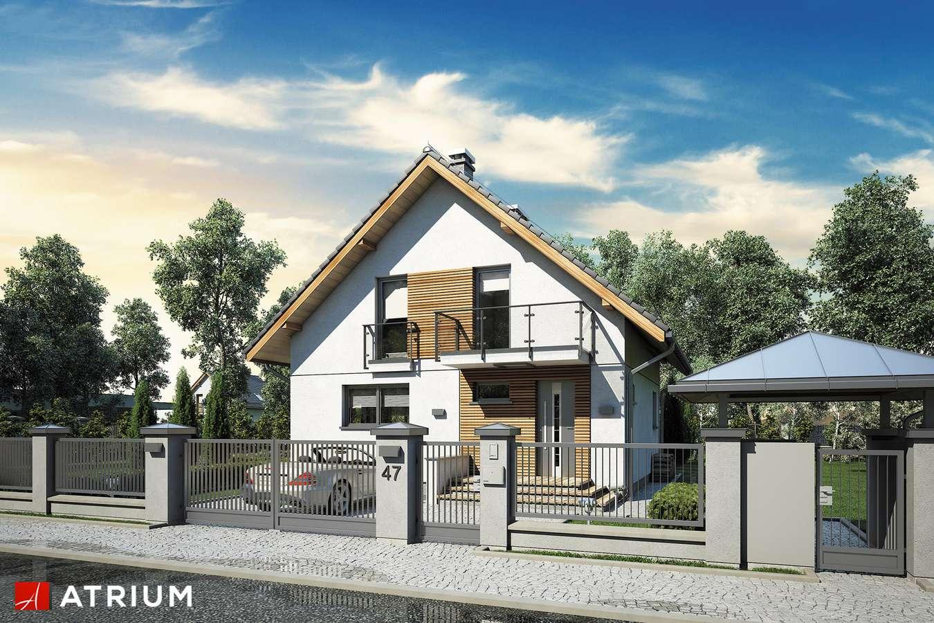 Projekty domów - Projekt domu z poddaszem KONKRET III - wizualizacja 2