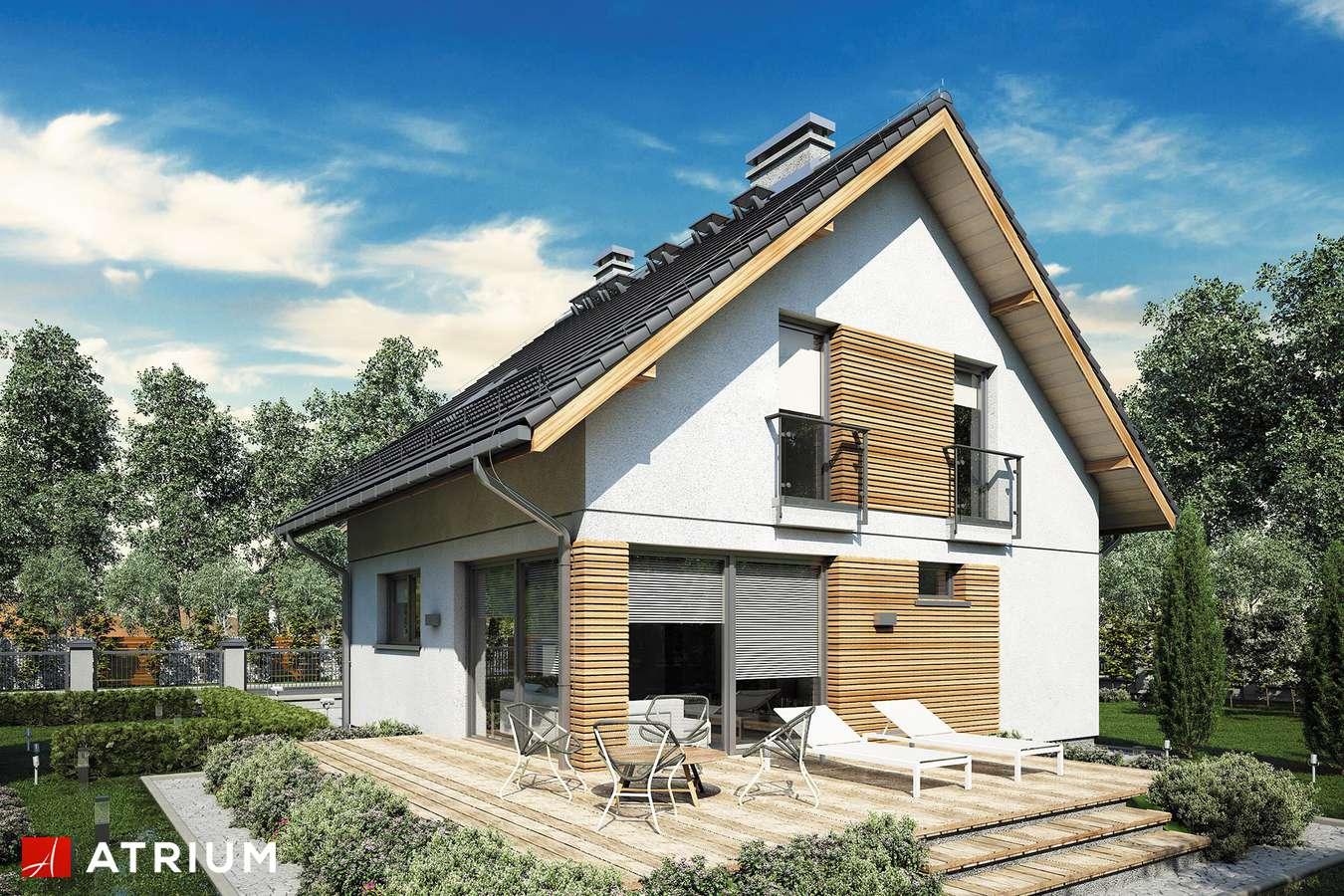 Projekty domów - Projekt domu z poddaszem KONKRET III - wizualizacja 1 - wersja lustrzana