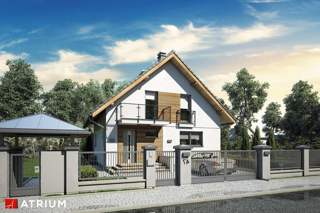 Projekty domów - Projekt domu z poddaszem KONKRET III - wizualizacja 2 - wersja lustrzana