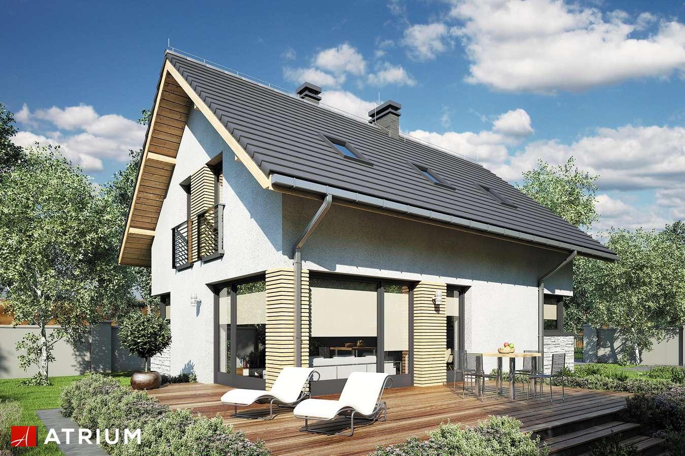 Projekty domów - Projekt domu z poddaszem FELIX III - wizualizacja 1