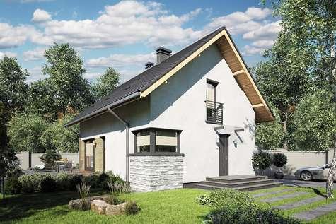 Projekt domu z poddaszem FELIX III - wizualizacja 2