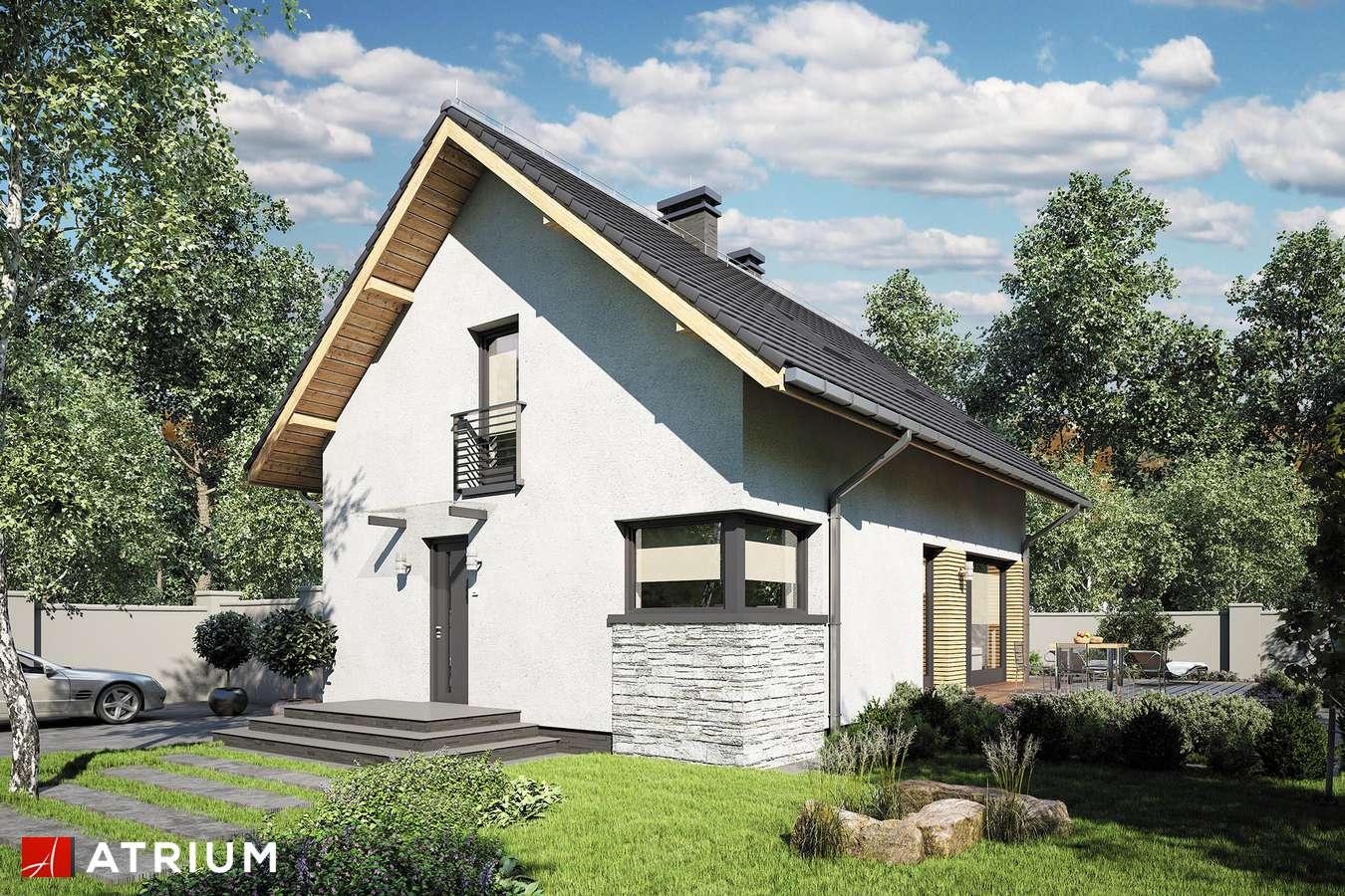 Projekty domów - Projekt domu z poddaszem FELIX III - wizualizacja 2 - wersja lustrzana