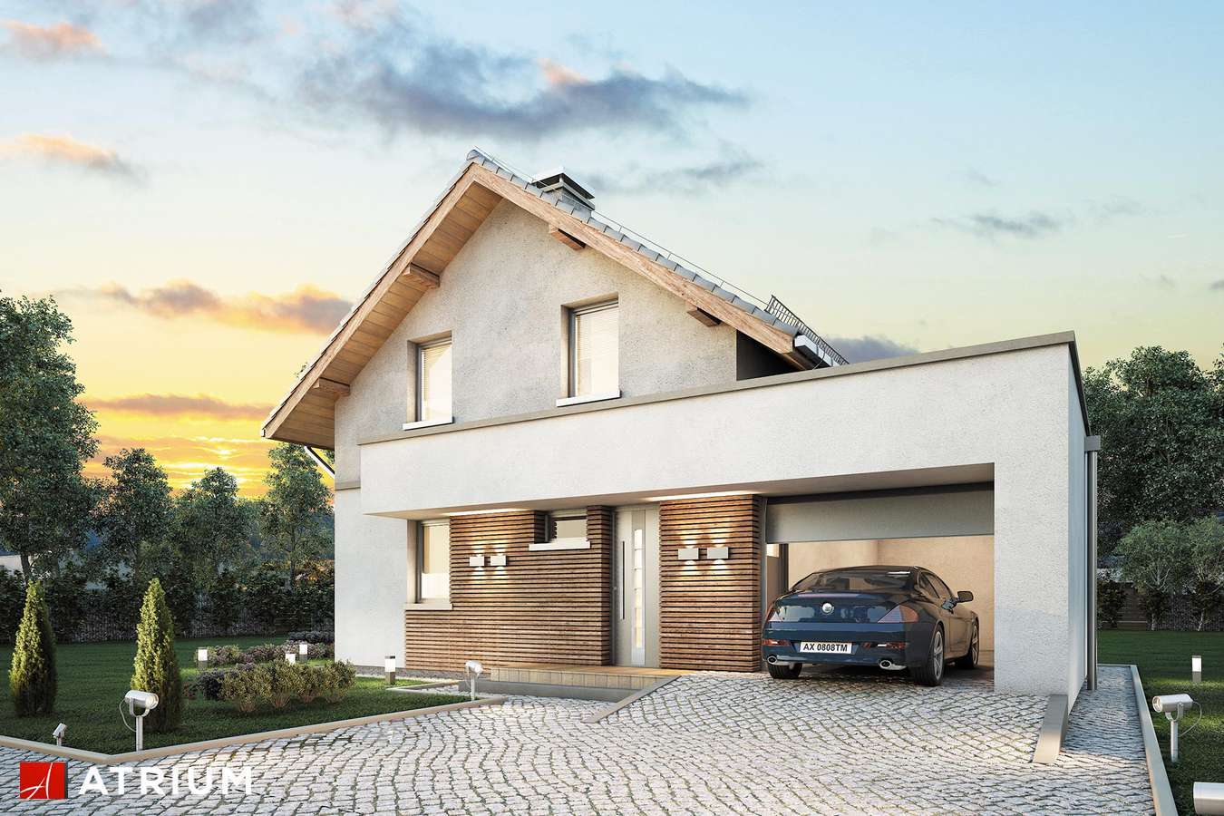 Projekt domu z poddaszem ARGOS - wizualizacja 1