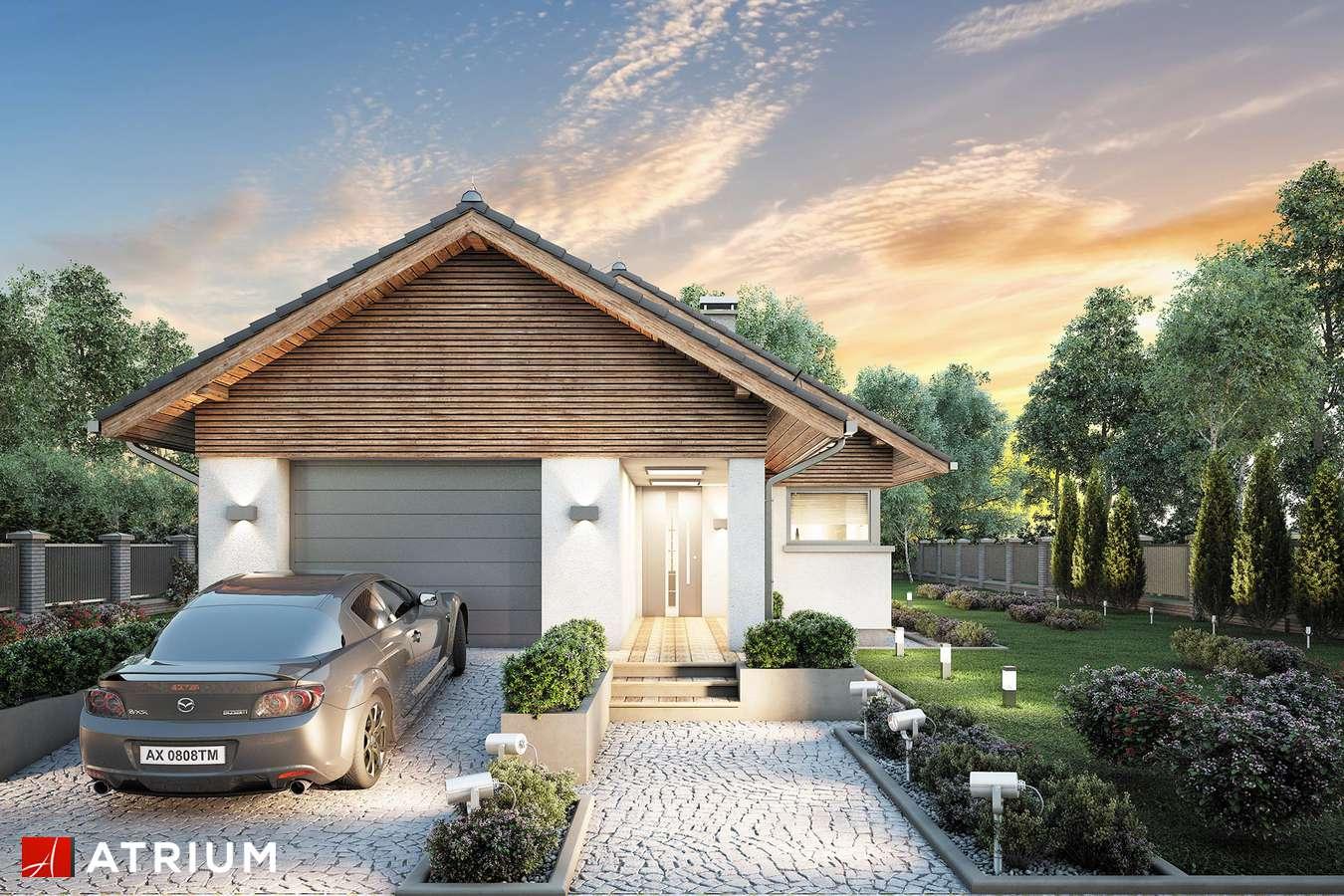 Projekty domów - Projekt domu parterowego PELIKAN SLIM - wizualizacja 1 - wersja lustrzana