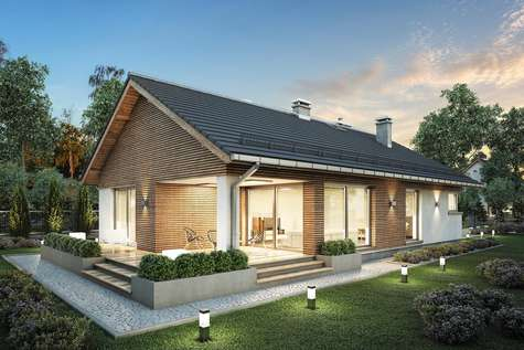 Projekt domu parterowego PELIKAN SLIM - wizualizacja 2