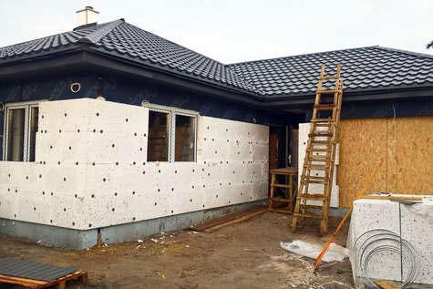 Projekt domu Merida SZ w budowie