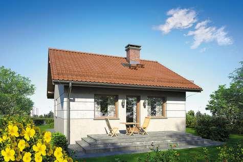 Projekt domu parterowego FILEMON II SZ - wizualizacja 2