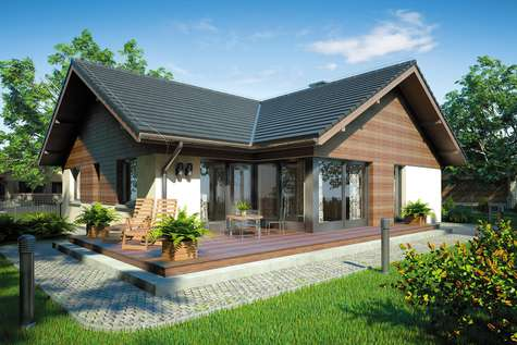 Projekt domu parterowego WINSTON SZ - wizualizacja 2