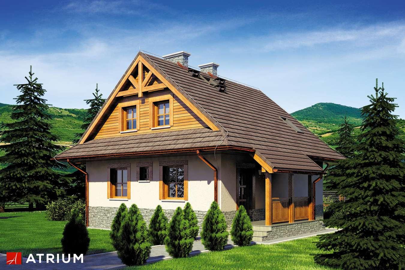 Projekty domów - Projekt domu z poddaszem CHATA POD JAWOREM SZ - wizualizacja 1