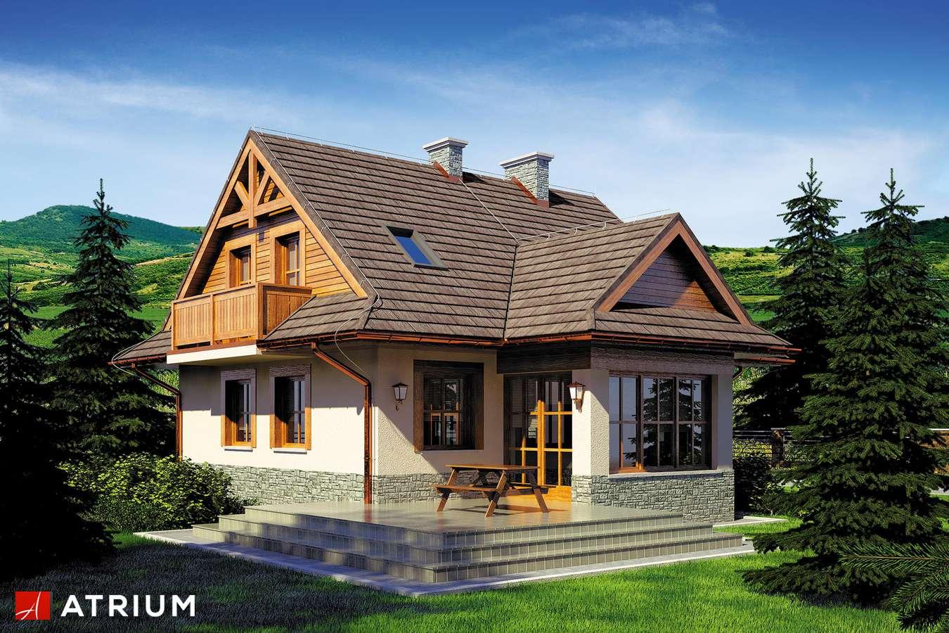Projekty domów - Projekt domu z poddaszem CHATA POD JAWOREM SZ - wizualizacja 2