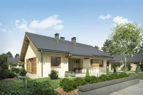 Projekt domu parterowego NEO STRADA SZ - wizualizacja 2