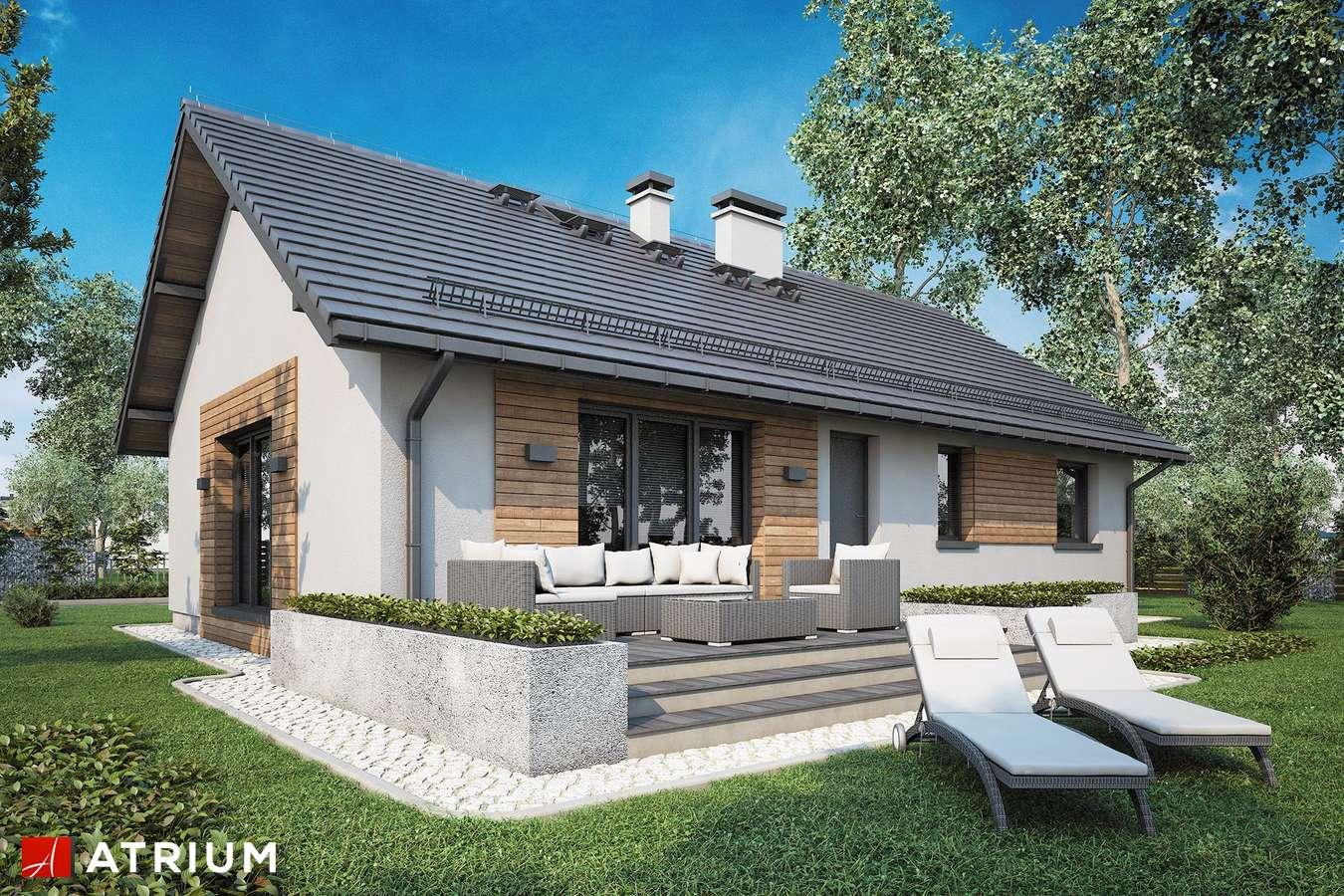 Projekty domów - Projekt domu parterowego AURORA II SZ - wizualizacja 2