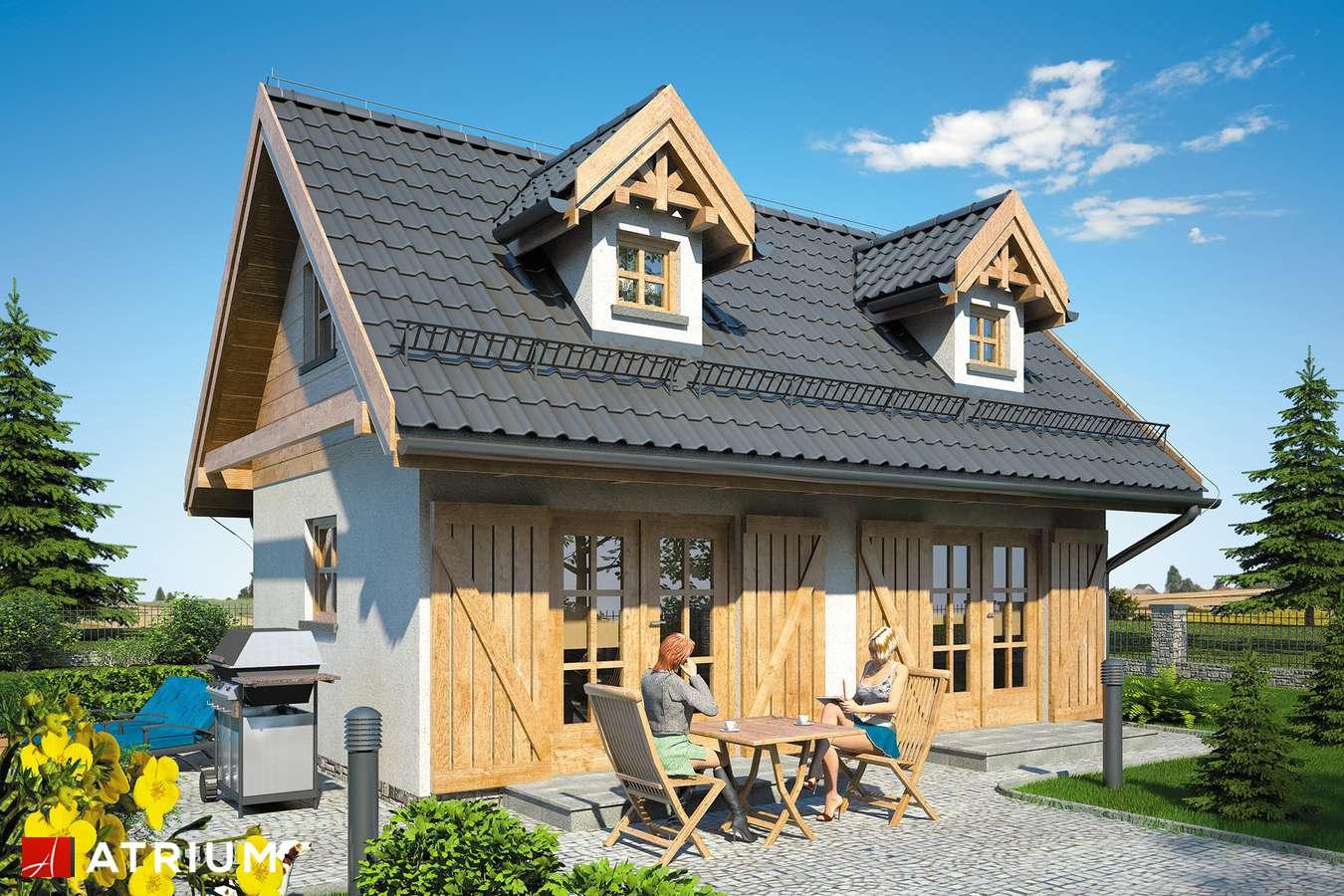 Projekty domów - Projekt domu z poddaszem PUNTO SZ - wizualizacja 1