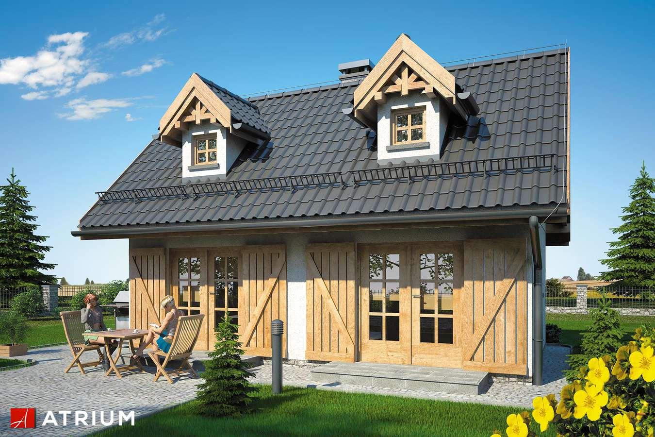 Projekty domów - Projekt domu z poddaszem PUNTO SZ - wizualizacja 2
