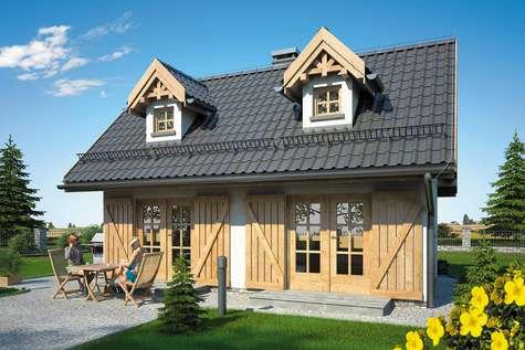 Projekt domu z poddaszem PUNTO SZ - wizualizacja 2