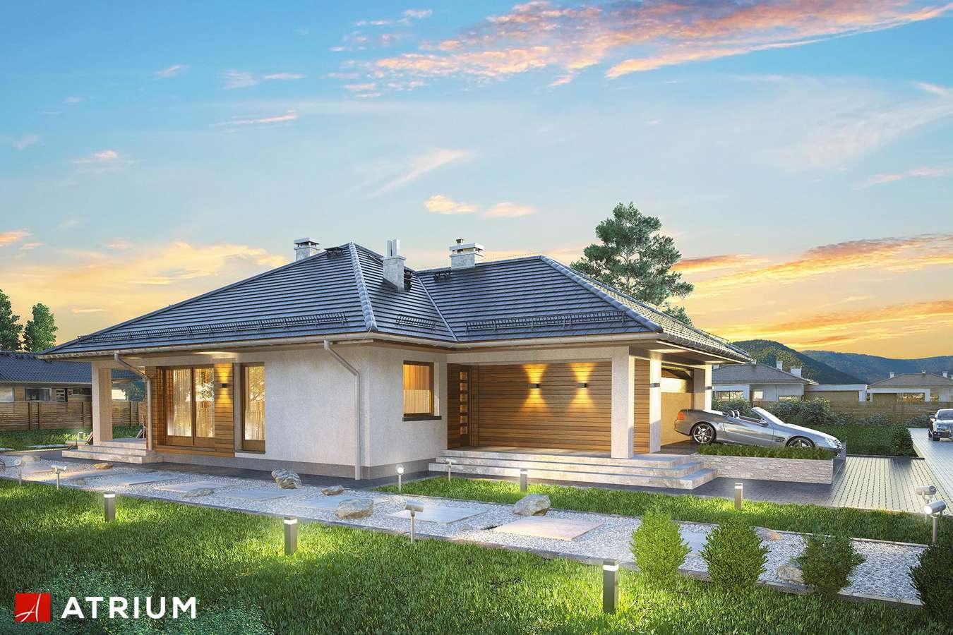 Projekty domów - Projekt domu parterowego BURSZTYN PLUS SZ - wizualizacja 1