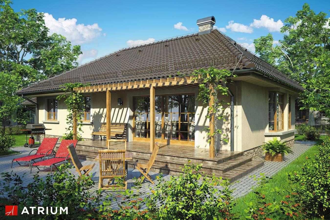 Projekty domów - Projekt domu parterowego ARKA - wizualizacja 2