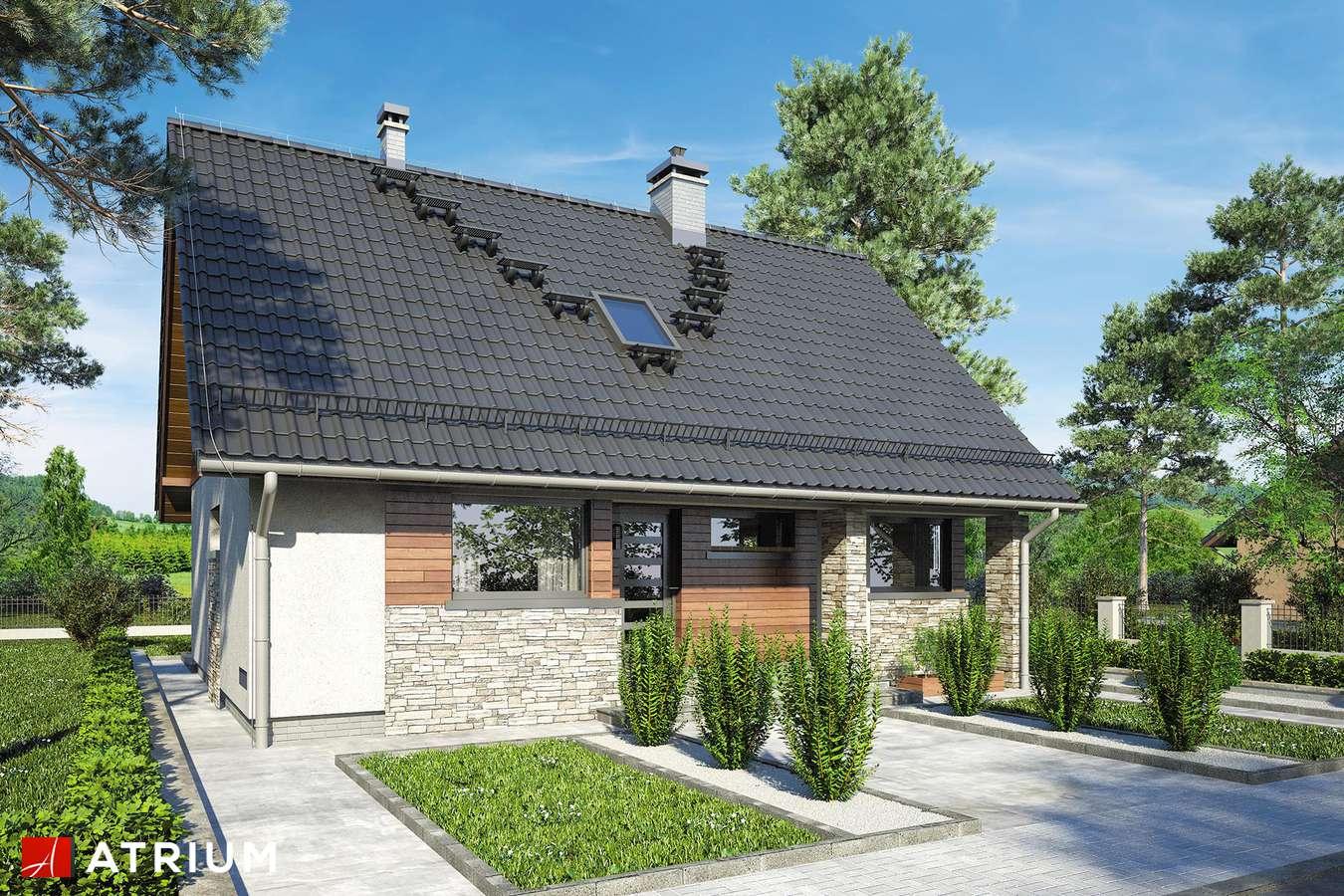 Projekty domów - Projekt domu z poddaszem RICARDO XV SZ - wizualizacja 1