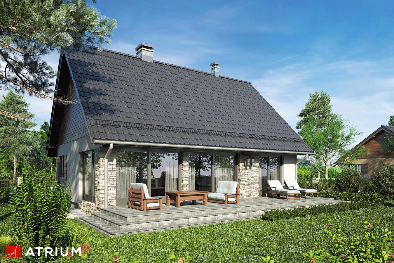 Projekty domów - Projekt domu z poddaszem RICARDO XV SZ - wizualizacja 2