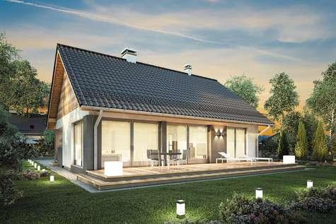 Projekt domu parterowego RICARDO XVI SZ - wizualizacja 2
