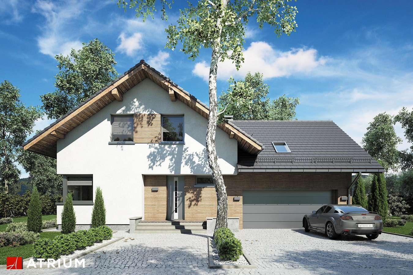 Projekty domów - Projekt domu z poddaszem MALBEC - wizualizacja 1