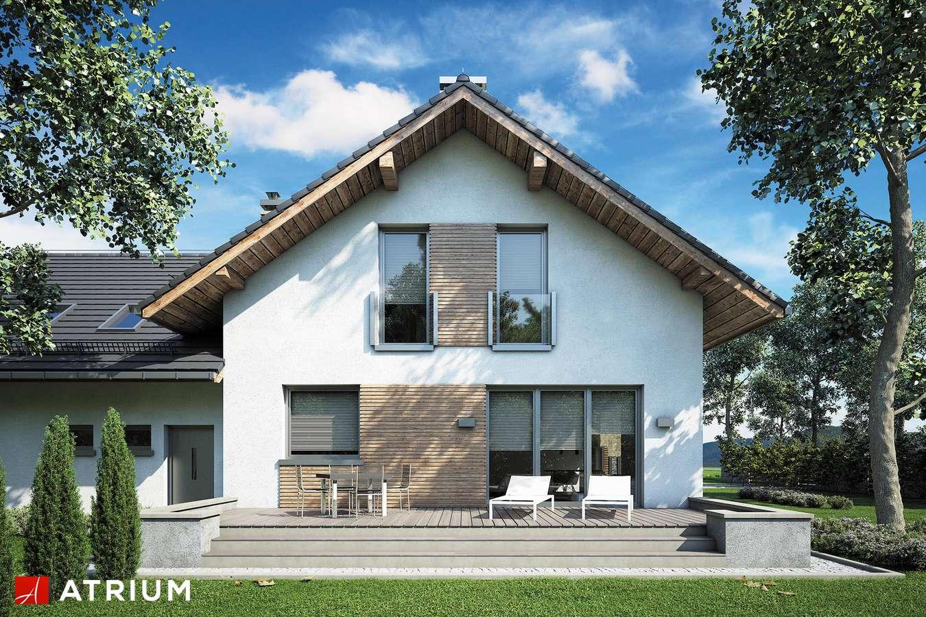 Projekty domów - Projekt domu z poddaszem MALBEC - wizualizacja 2