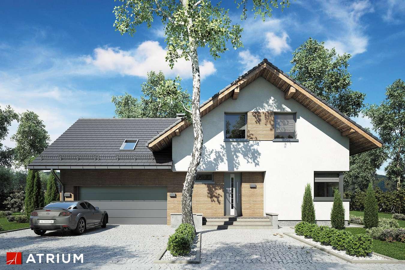 Projekty domów - Projekt domu z poddaszem MALBEC - wizualizacja 1 - wersja lustrzana