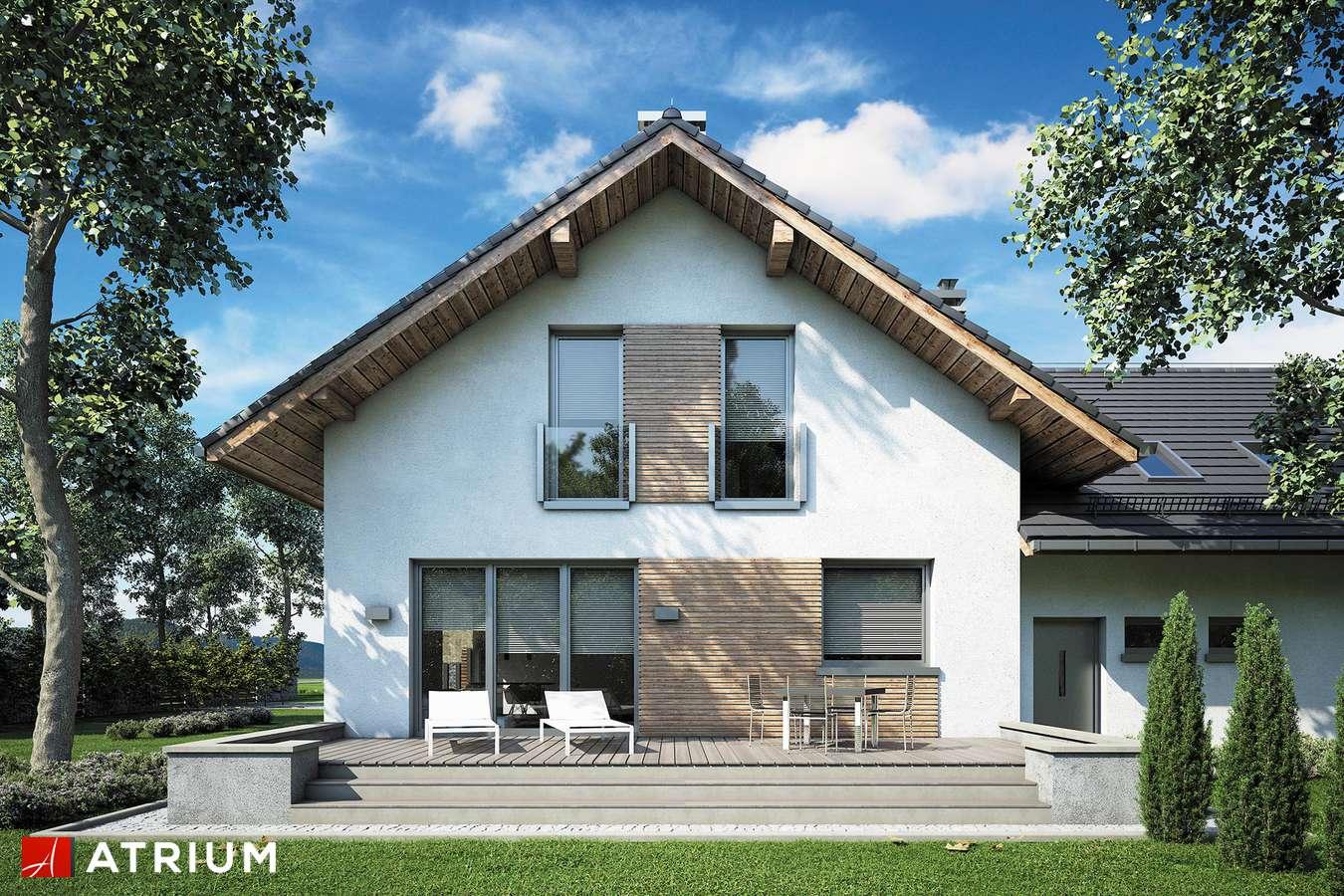 Projekty domów - Projekt domu z poddaszem MALBEC - wizualizacja 2 - wersja lustrzana