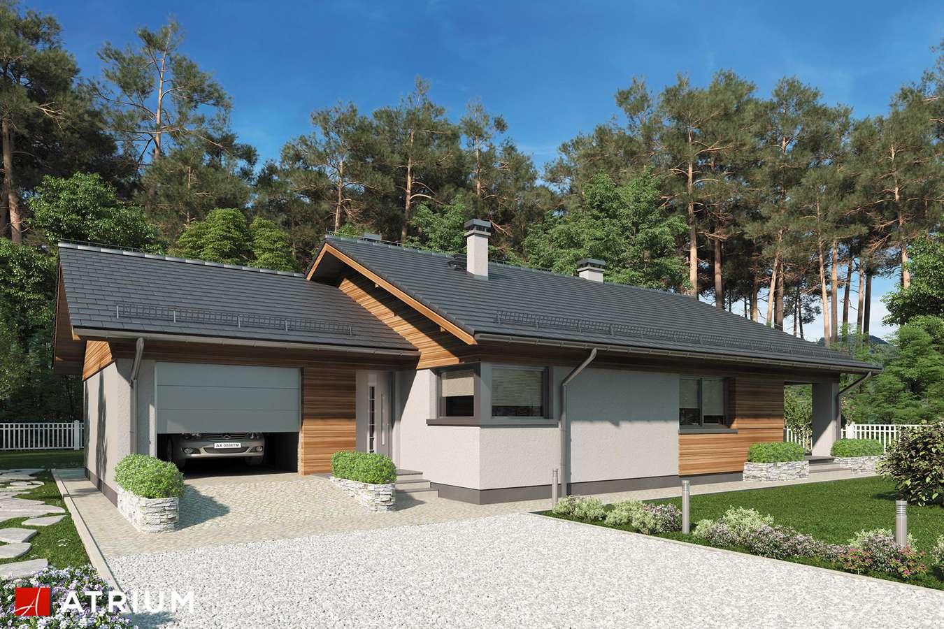 Projekty domów - Projekt domu parterowego KOS IV SZ - wizualizacja 1 - wersja lustrzana