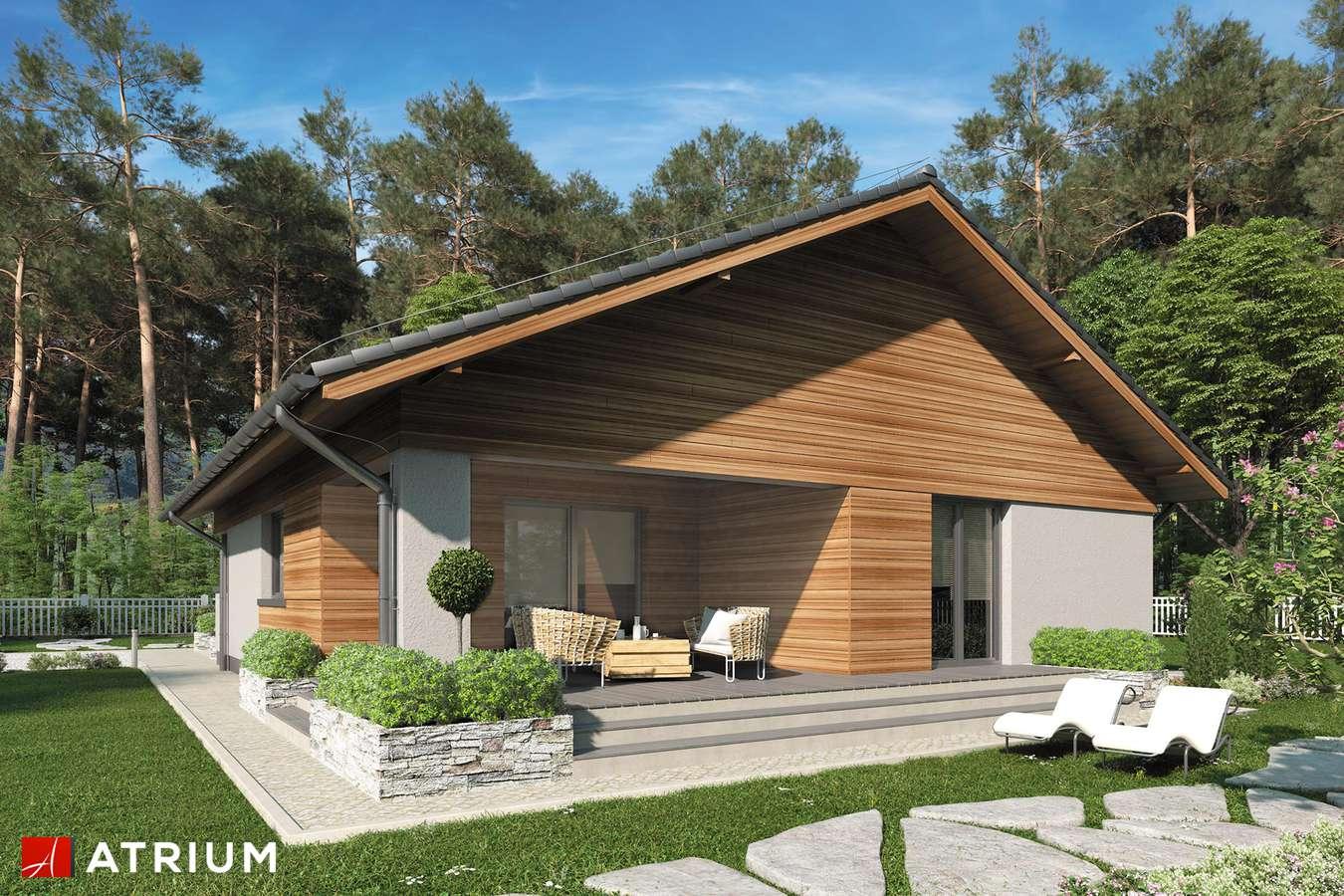 Projekty domów - Projekt domu parterowego KOS IV SZ - wizualizacja 2 - wersja lustrzana