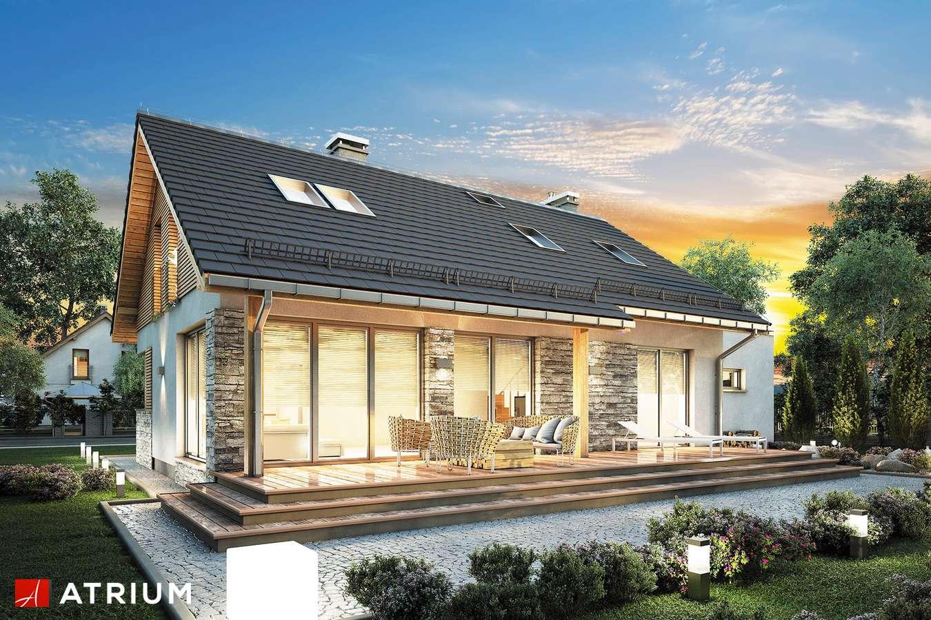 Projekty domów - Projekt domu z poddaszem RICARDO XVII - wizualizacja 1