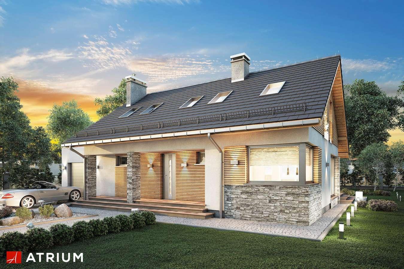 Projekty domów - Projekt domu z poddaszem RICARDO XVII - wizualizacja 2