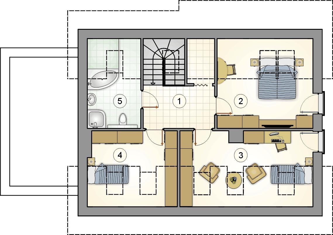 Rzut poddasza - projekt Ricardo XVII