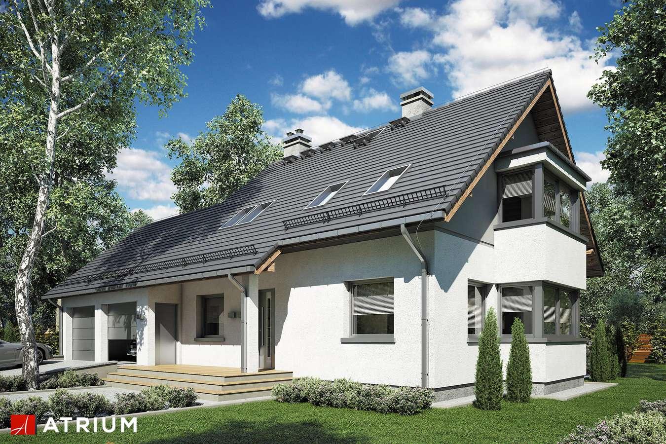 Projekty domów - Projekt domu z poddaszem KOMBI PLUS - wizualizacja 1