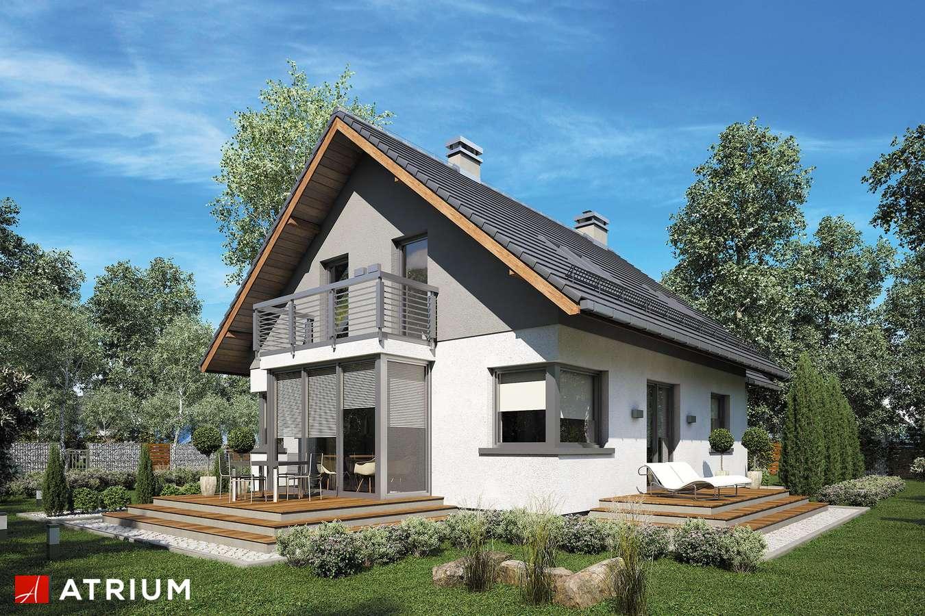Projekty domów - Projekt domu z poddaszem SABINA II - wizualizacja 2