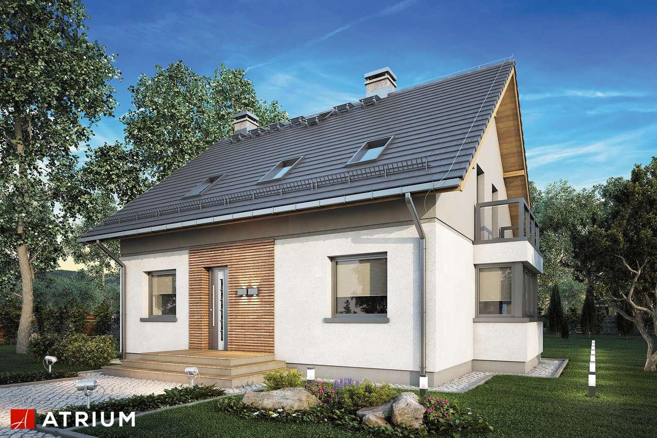 Projekty domów - Projekt domu z poddaszem PERFEKT - wizualizacja 1
