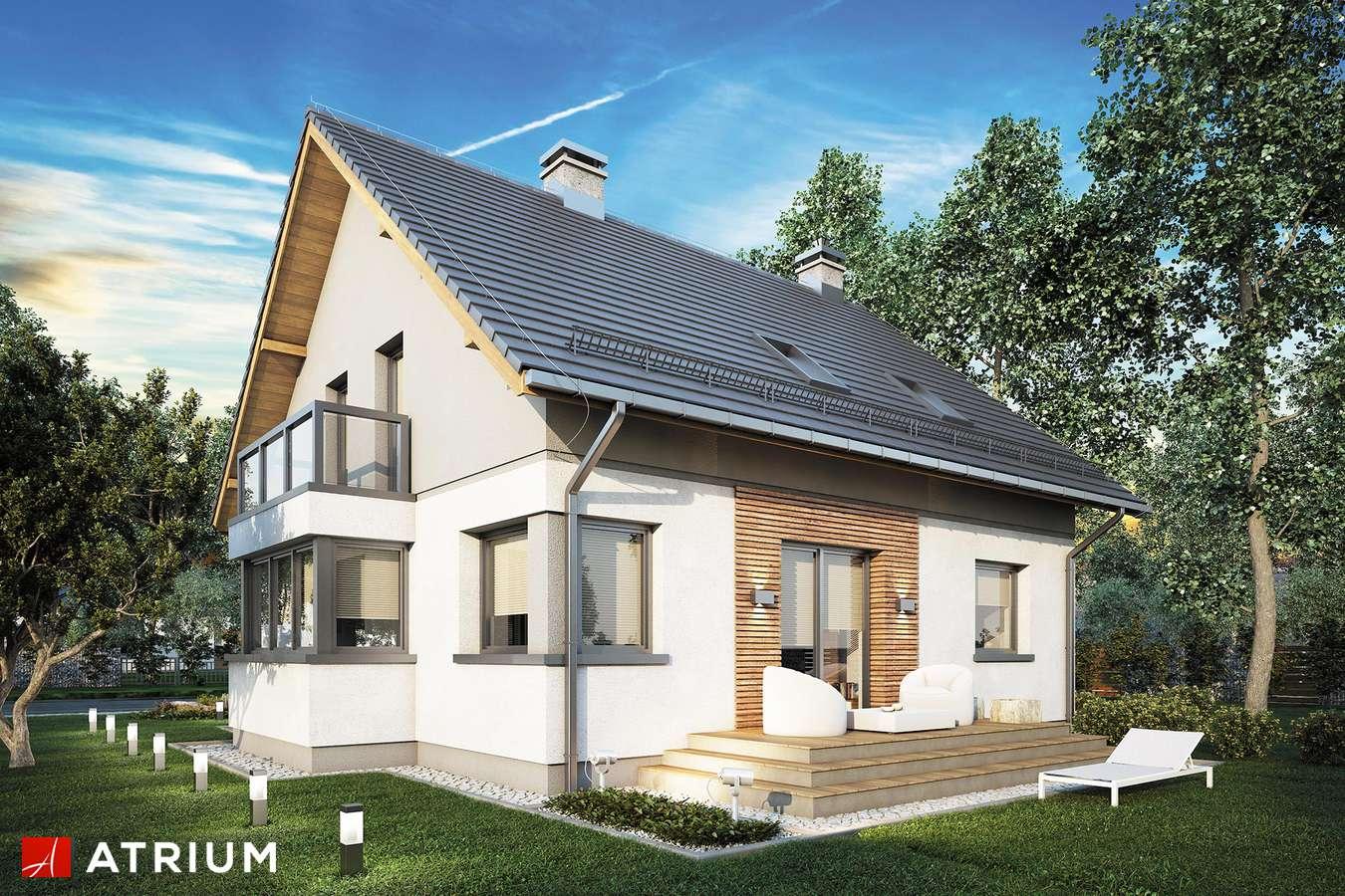 Projekty domów - Projekt domu z poddaszem PERFEKT - wizualizacja 2
