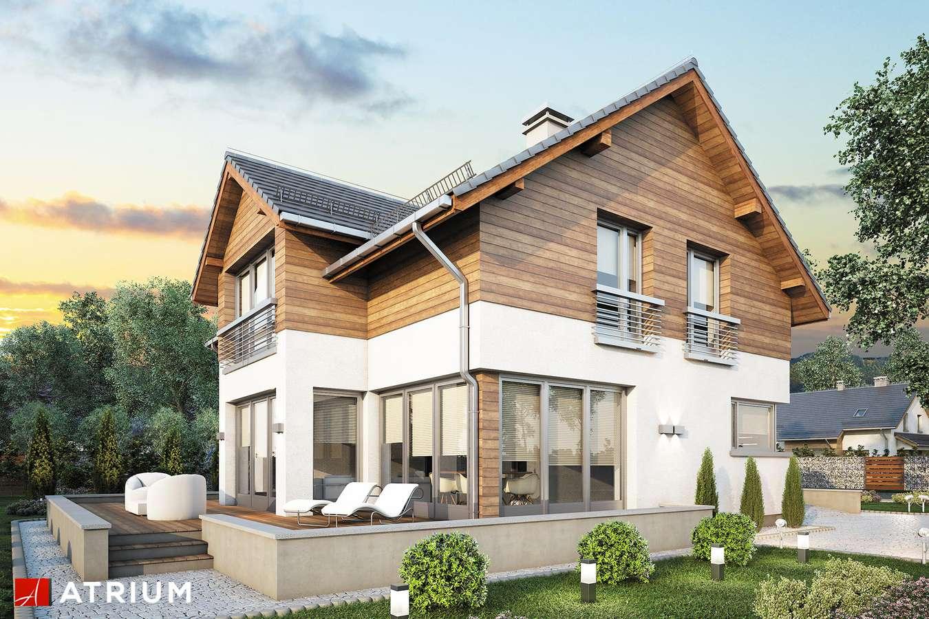 Projekty domów - Projekt domu z poddaszem SAMBA PLUS - wizualizacja 2