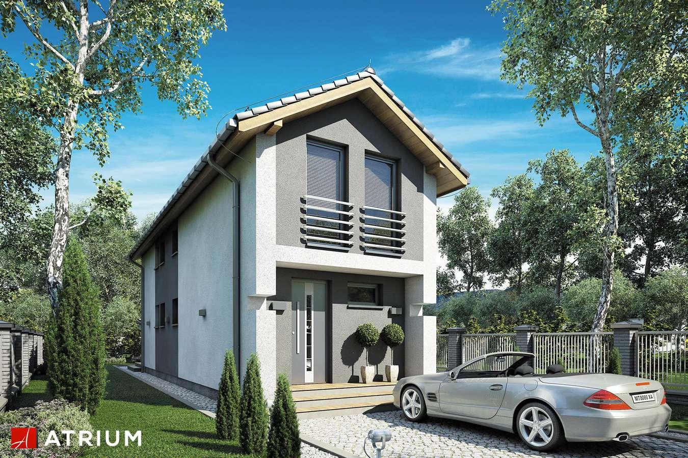 Projekty domów - Projekt domu z poddaszem BUSIK II - wizualizacja 1