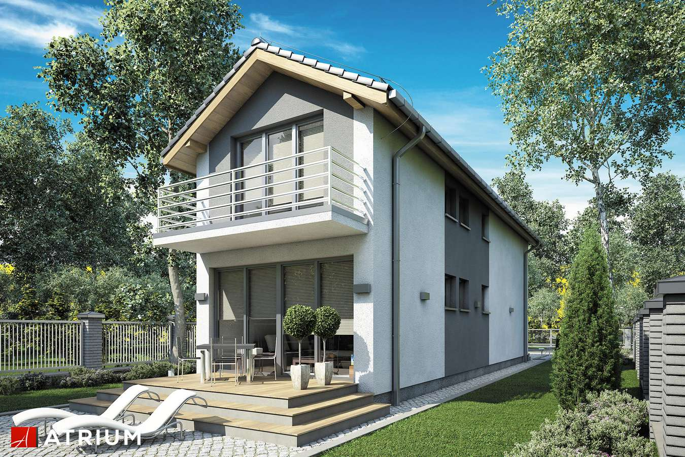 Projekty domów - Projekt domu z poddaszem BUSIK II - wizualizacja 2
