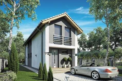 Projekt domu z poddaszem BUSIK II - wizualizacja 1