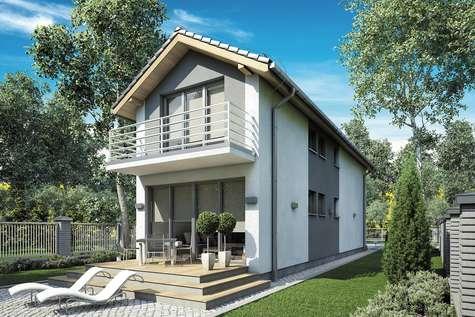 Projekt domu z poddaszem BUSIK II - wizualizacja 2
