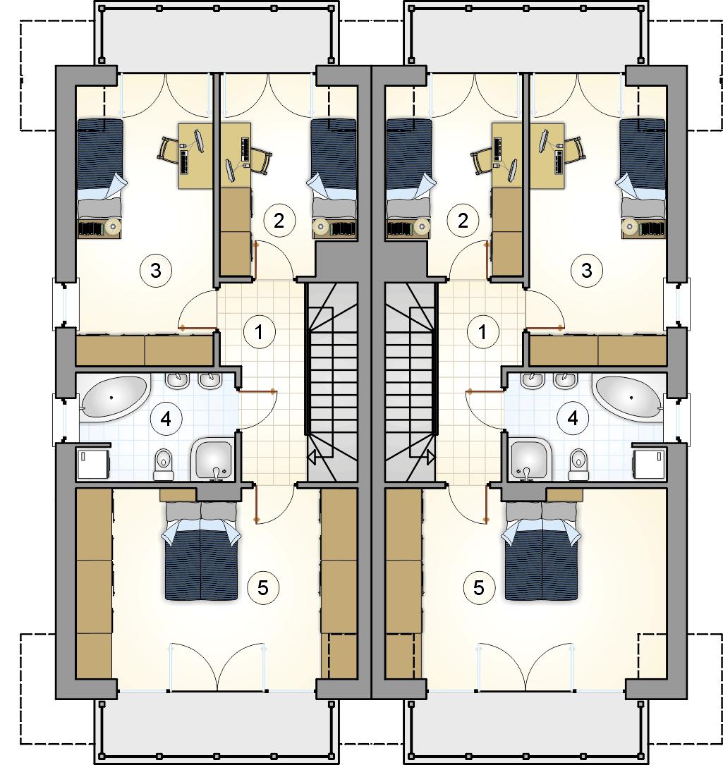 Rzut poddasza - projekt Tandem III