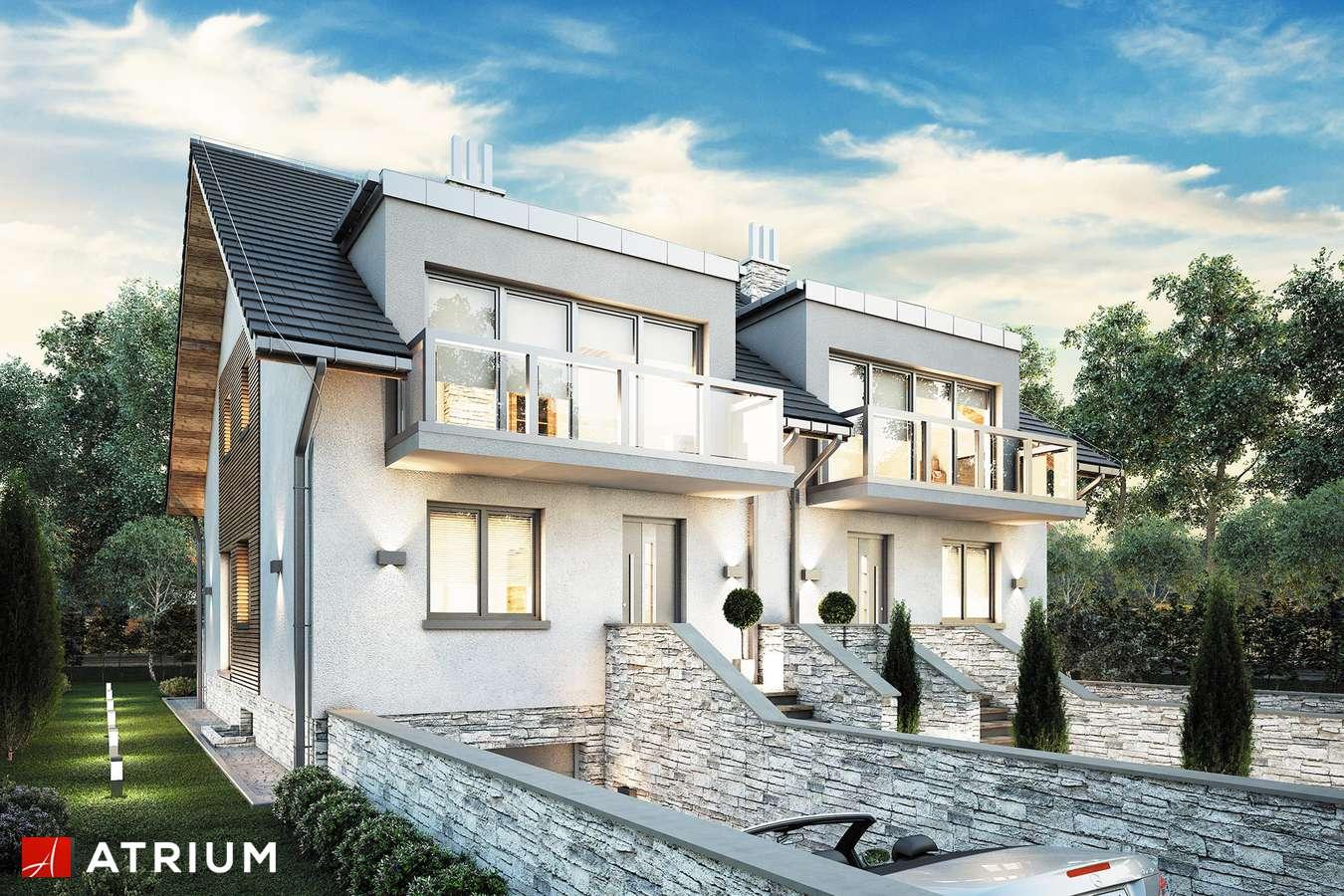 Projekty domów - Projekt domu z poddaszem TANDEM III - wizualizacja 1