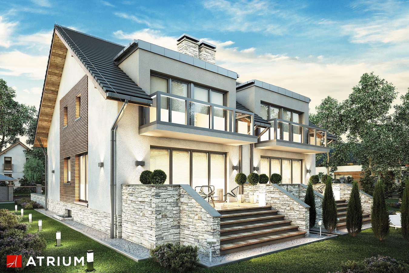 Projekty domów - Projekt domu z poddaszem TANDEM III - wizualizacja 2