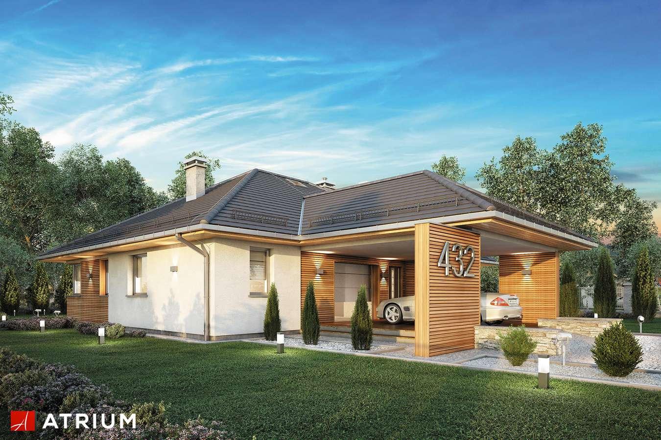 Projekty domów - Projekt domu parterowego MAJORKA - wizualizacja 1