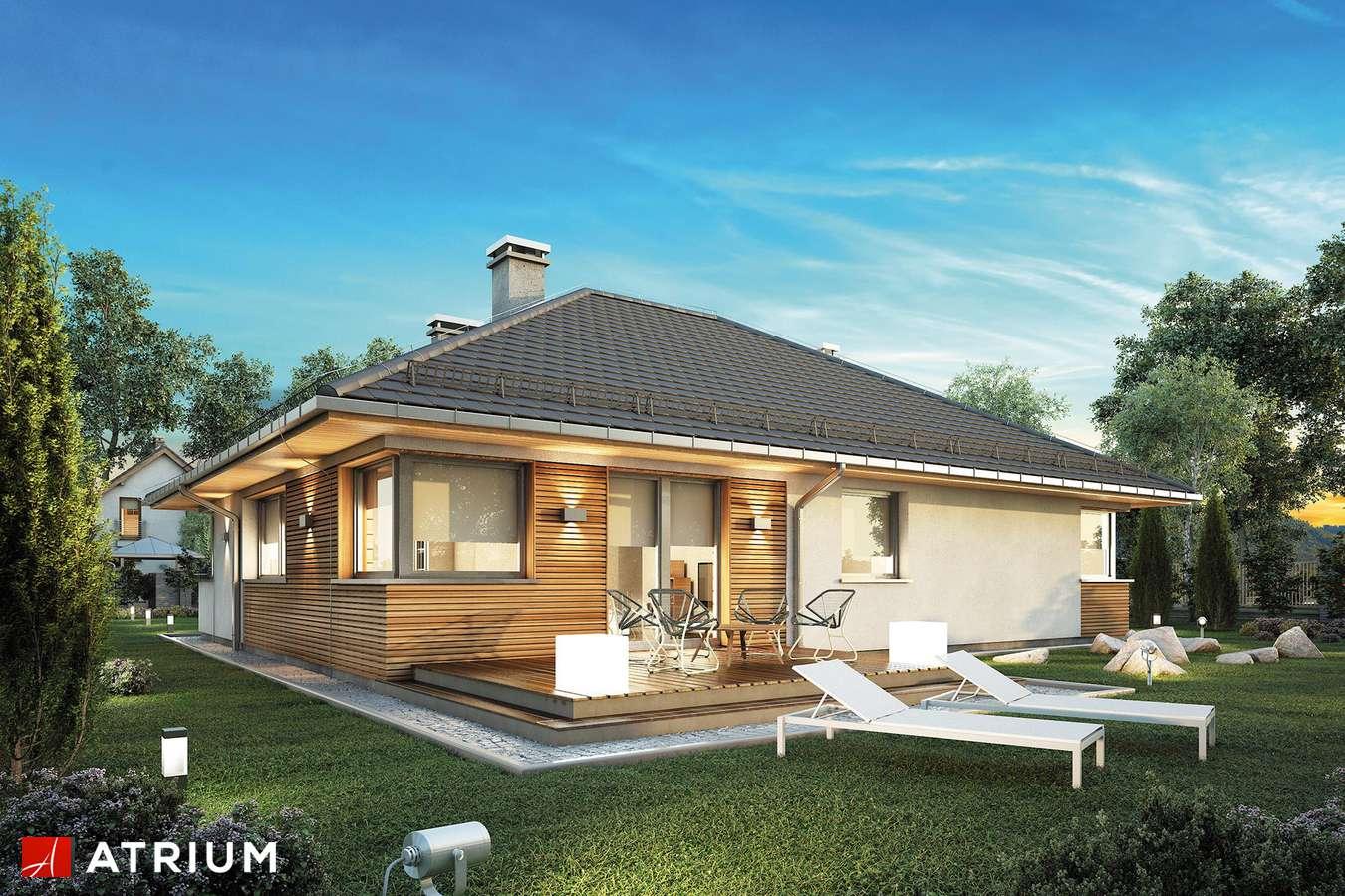 Projekty domów - Projekt domu parterowego MAJORKA - wizualizacja 2