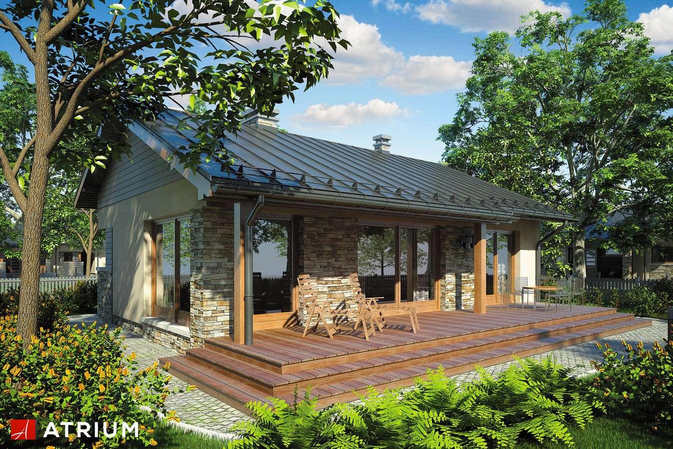 Projekty domów - Projekt domu parterowego RICARDO BIS - wizualizacja 1