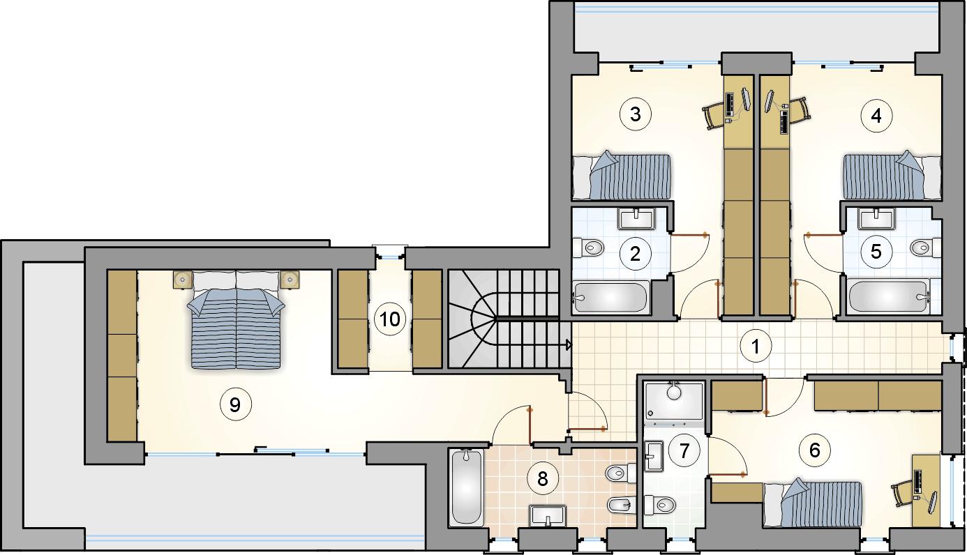 Rzut piętra - projekt Magnus